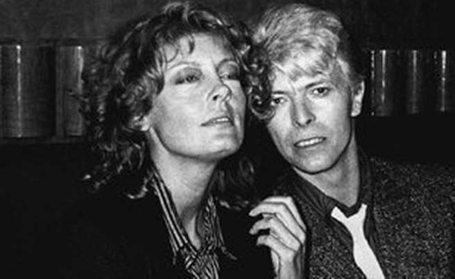 Susan Sarandon and David Bowie in 1983.