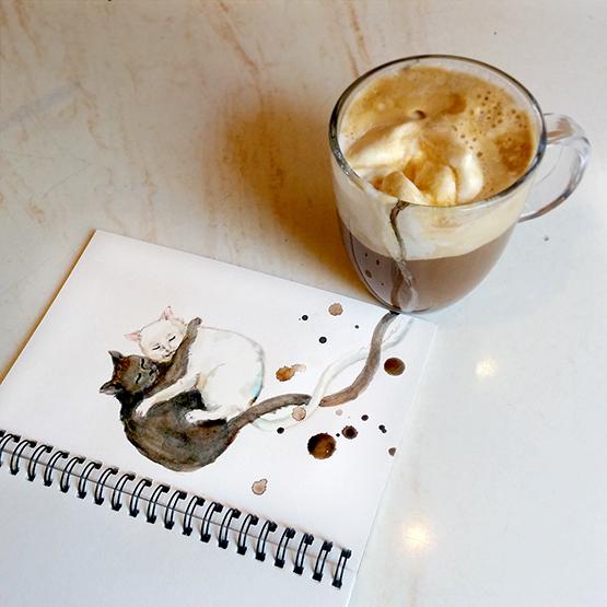 Café com sorvete, porque a gente não quer deixar o café de lado mesmo quando está quente